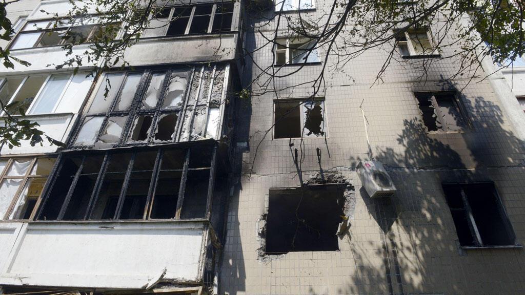 La ville de Donetsk porte les stigmates du conflit.