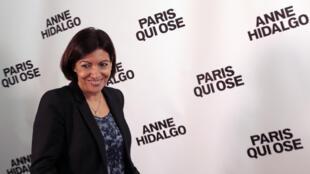 Anne Hidalgo lors de sa conférence de presse le 16 mars 2014 à Paris