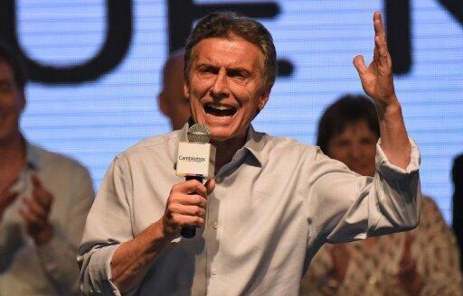 المحافظ ماوريسيو ماكري في بوينوس أيرس في 25 تشرين الأول/أكتوبر 2015