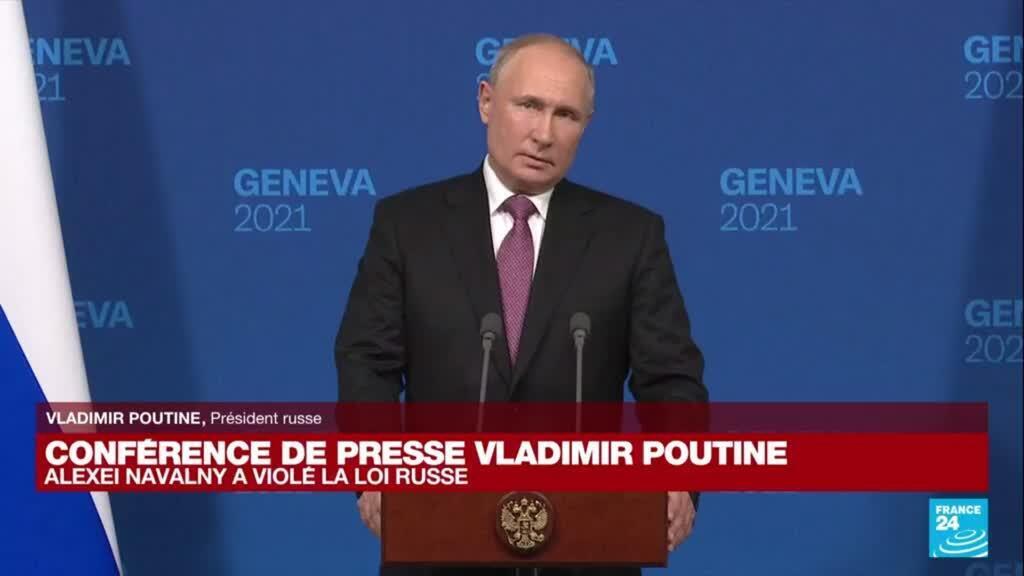 """2021-06-16 18:05 """" A Guantanamo, les droits de l'homme sont bafoués"""" pour Vladimir Poutine"""