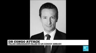 2021-02-22 15:05 Italy confirms death of its ambassador to DR Congo