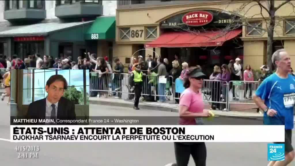 2021-10-13 17:00 Etats-Unis : l'auteur de l'attentat de Boston encourt la perpétuité ou l'exécution