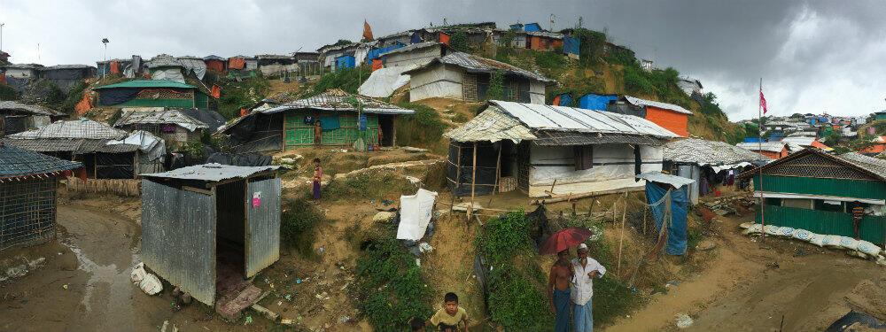 The Balukhali camp in Bangladesh