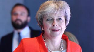 La Première ministre britannique Theresa May au sommet européen de Salzbourg, le 20 septembre 2018.