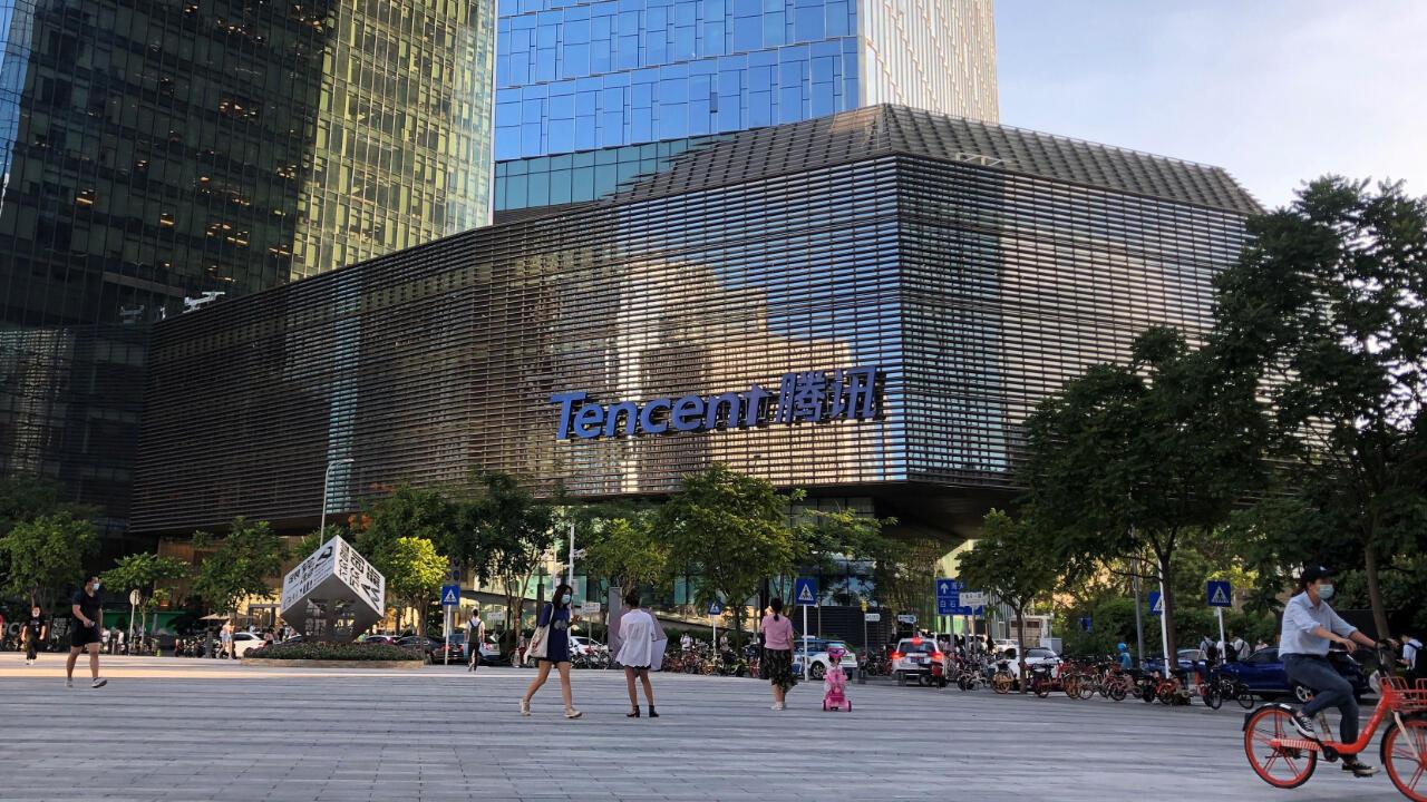 Oficinas centrales de Tencent, dueña de la aplicación WeChat en Shenzhen, provincia de Guangdong, China. 7 de agosto de 2020.