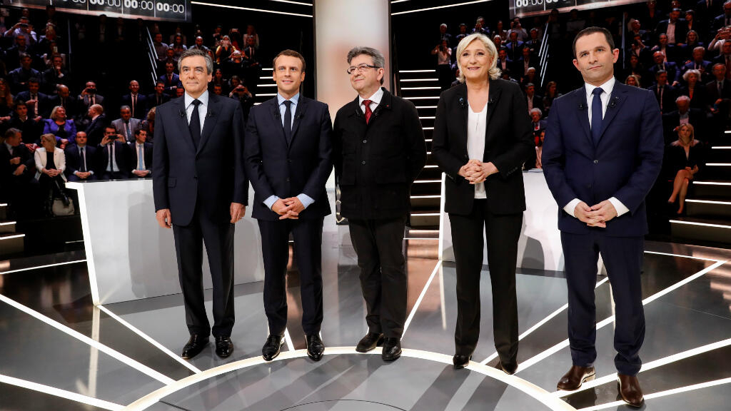 Le Pen, Macron go head-to-head in first French presidential TV debate
