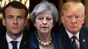 Emmanuel Macron, Theresa May et Donald Trump ont ordonné, samedi 14 avril, des frappes communes contre l'arsenal chimique syrien.