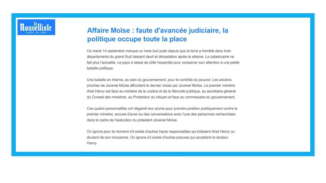 Le Premier ministre haïtien limoge un procureur qui menaçait de l'inculper