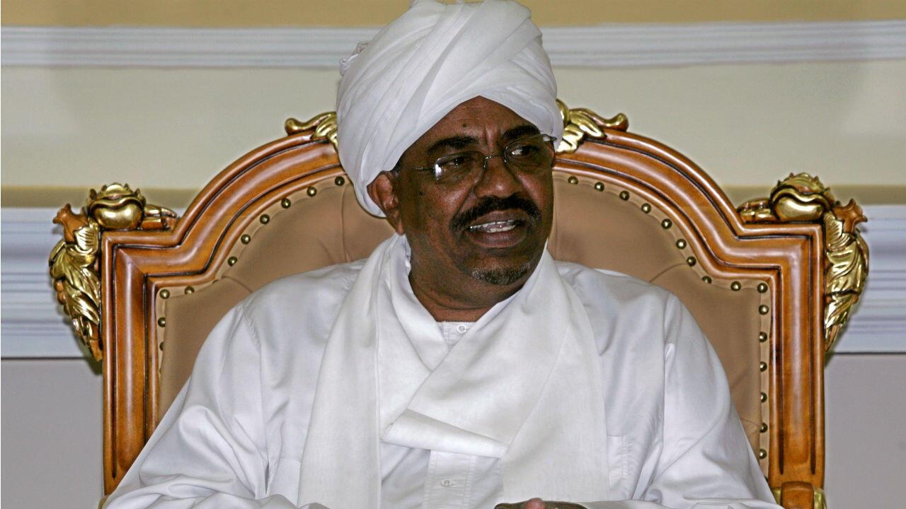 Omar el-Bechir, alors président soudanais, à Khartoum le 4 mars 2009.
