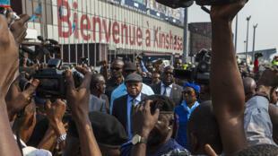 Arrivée de l'opposant Étienne Tshisekedi, mercredi 27 juillet, à Kinshasa.