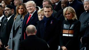 قادة العالم يحيون ذكرى مئوية الحرب العالمية الأولى في باريس. 2018/11/11