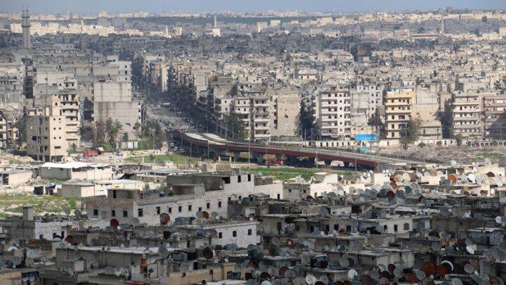 منظر عام لمدينة حلب في سوريا