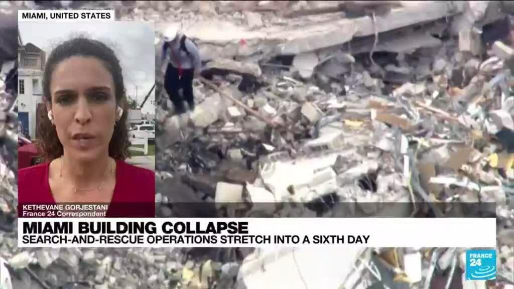 2021-06-29 23:01 Little progress at collapsed Florida building, 150 still missing