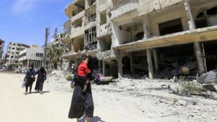 صورة من مدينة دوما، سوريا