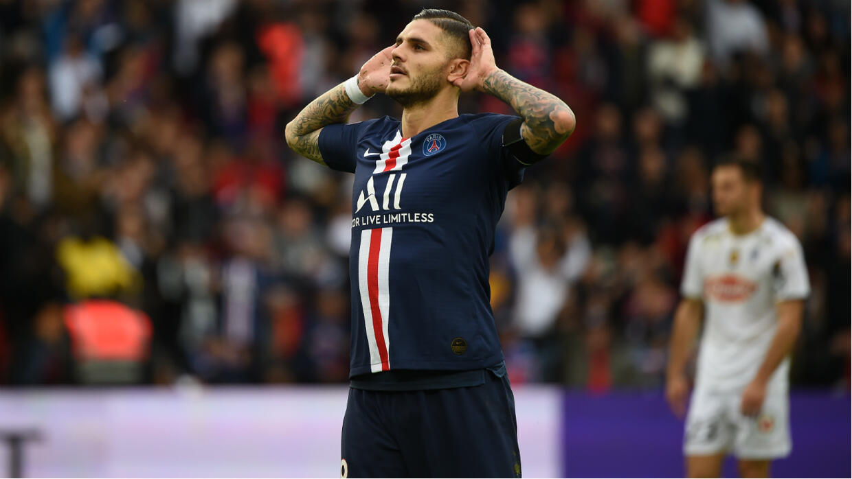 Icardi scores first Ligue 1 goal as PSG thump Angers 4-0
