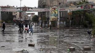 مخيم اليرموك جنوب دمشق في 2012