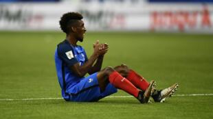 L'attaquant de l'équipe de France Kingsley Coman.