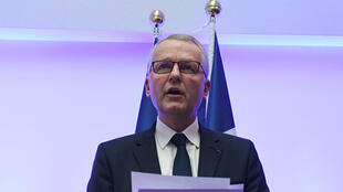 Paris Public Prosecutor Remy Heitz delivers a speech during a press conference at the Strasbourg's High courthouse in Strasbourg, May 25 2019.