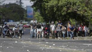 Des manifestants ont affronté la police nicaraguayenne à Managua, le 19 avril 2018.