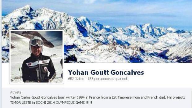 La page Facebook de Yohan Goncalves Goutt