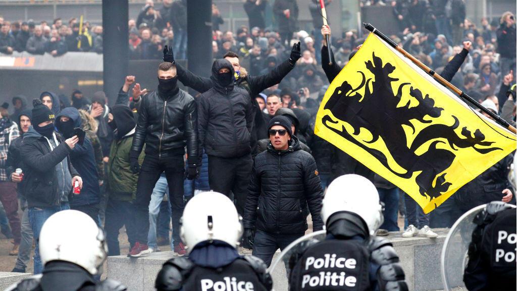 El 16 de diciembre, partidos de ultraderecha protestaron en Bruselas contra el Pacto migratorio promovido por la ONU.