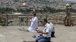 The Al-Aqsa mosque complex was shut for the Eid al-Fitr festival that marks the end of the holy fasting month of Ramadan