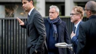 """القطري ناصر الخليفي، رئيس مجموعة """"بي إن"""" الإعلامية ورئيس نادي باريس سان جرمان الفرنسي"""