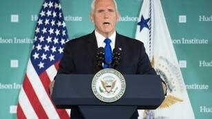 US Vice President Mike Pence, pictured in Washington on October 4, 2018, brought up ties with Beijing as he met with Central American leaders