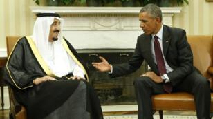 Le roi Salmane et Barack Obama dans le bureau ovale de la Maison Blanche, le 4 septembre 2015.