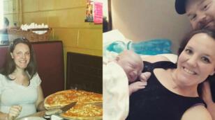 L'une des heureuses mamans à avoir accouché après la fameuse pizza.