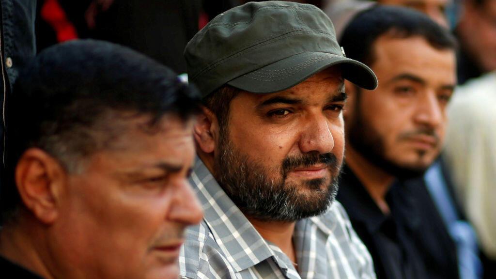 Bahaa Abou al Ata, líder del grupo Yihad Islámica de Palestina (centro).