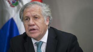 El secretario general de la OEA, Luis Almagro, habla en Santo Domingo