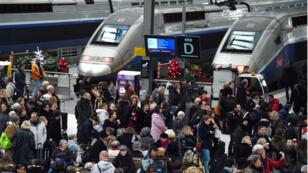 La gare de Lyon, à Paris, à une heure de pointe.