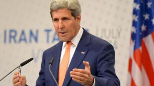 John Kerry lors des négociations sur le nucléaire iranien à Vienne, le 15 juillet 2014.