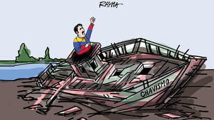 La présidence contestée de Nicolas Maduro vue par la caricaturiste Rayma Suprani.