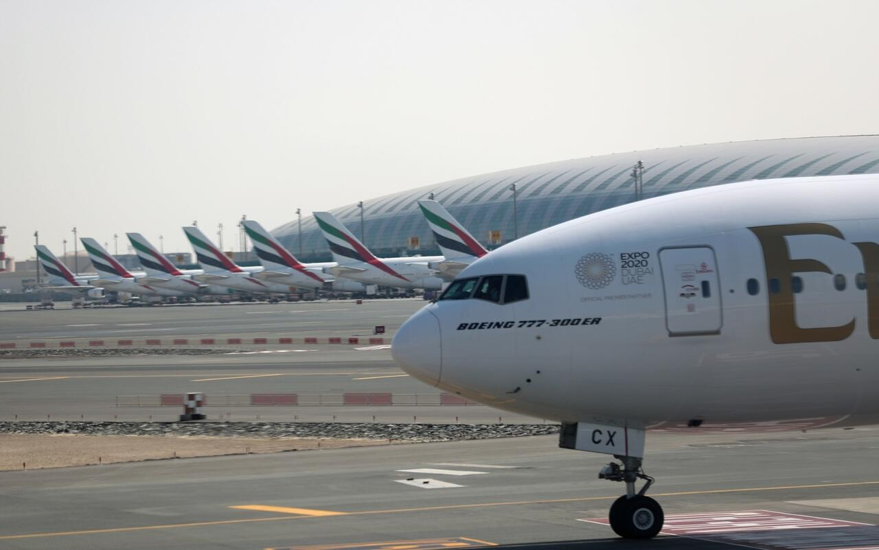 Imagen de archivo de un avión de una compañía de Medio Oriente.