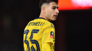 Arsenal's Gabriel Martinelli will be sidelined until the end of 2020
