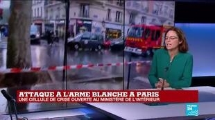 """2020-09-25 13:14 """"Des cris ont été entendus"""" près de cet incident à l'arme blanche, aux alentours des anciens locaux de Charlie Hebdo"""