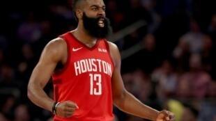 James Harden des Houston Rockets lors du match de NBA face aux Knicks, à New York, le 23 janvier 2019