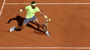 Rafael Nadal, pas inquiété par l'Argentin Juan Ignacio Londero.