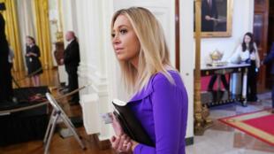 Kayleigh McEnany, porte-parole de la Maison Blanche, le 28 avril 2020 à Washington