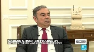 El exdirector de Nissan, Carlos Ghosn, concedió una entrevista en exclusiva a France 24.