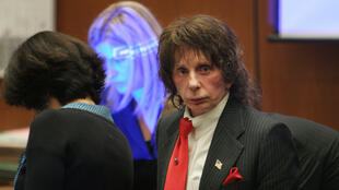 Music producer Phil Spector is seen in court on March 25, 2009 for the second day of the defence's closing arguments in his retrial murder case in Los Angeles, California, USA.