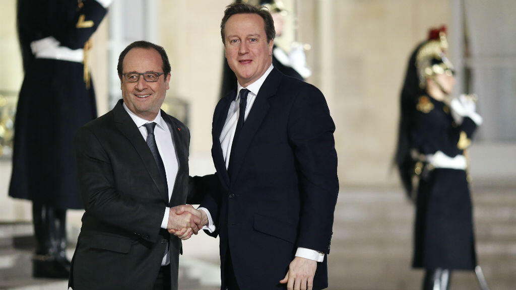 Hollande tells Cameron still work to be done before EU referendum