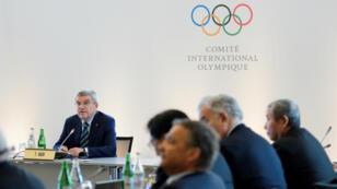 Thomas Bach, président du CIO, durant un sommet olympique à Lausanne, le 21 juin  2016