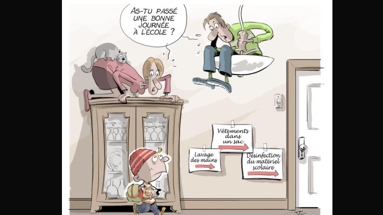 Illustration du canadien André-Philippe Côté pour Cartooning for Peace