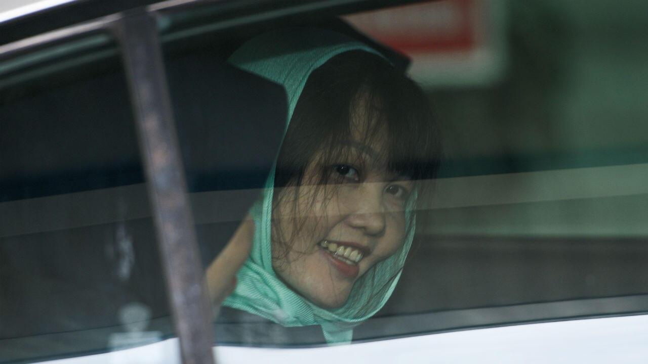 Doan Thi Huong saliendo de la corte de Shah Alam, en Malasia. 1 de abril de 2019.