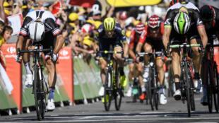 L'Australien Michael Matthews, vainqueur de la 16e étape du Tour de France, le 18 juillet 2017.