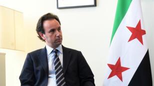 Khaled Khoja, chef de la Coalition nationale syrienne.