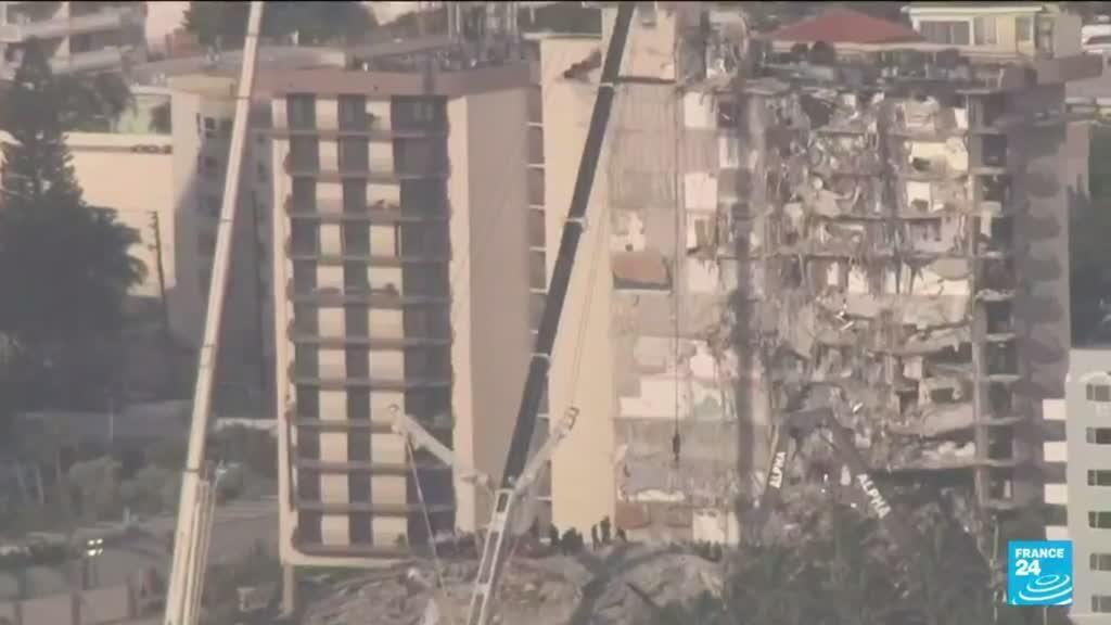 2021-06-28 10:10 Effondrement en Floride : dans la ville endeuillée de Surfside, les recherches se poursuivent
